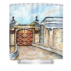 Castillo De San Cristobal Entry Gate Shower Curtain