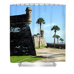 Shower Curtain featuring the photograph Castillo De San Marcos St Augustine Florida by Bill Holkham