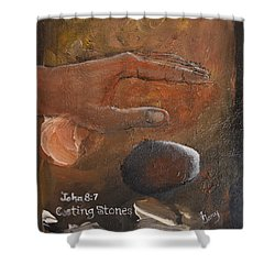 Casting Stones Shower Curtain