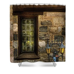 Castle - Coat Of Arms Shower Curtain by Mike Savad