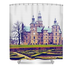 Castle  Shower Curtain by Molly Malone