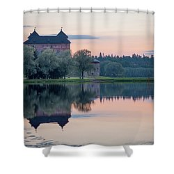 Castle After The Sunset Shower Curtain