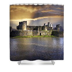 Castle At Dawn Shower Curtain