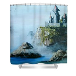 Castle At Dragon Point Shower Curtain