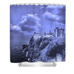 Castle Blue Shower Curtain