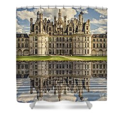 Shower Curtain featuring the photograph Castle Chambord by Heiko Koehrer-Wagner