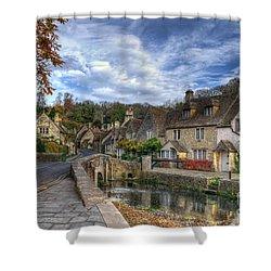 Castle Combe England Shower Curtain by Ann Garrett