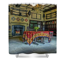 Shower Curtain featuring the photograph Castle Dining Room by Ian Mitchell