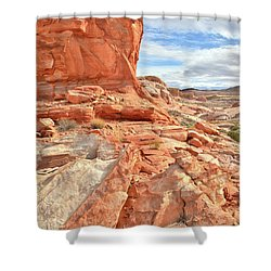 Castle High Above Wash 5 In Valley Of Fire Shower Curtain by Ray Mathis