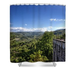 Castle In Chianti, Italy Shower Curtain