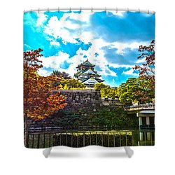 Shower Curtain featuring the photograph Castle In Osaka by Pravine Chester