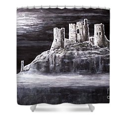 Castle In The Sky Shower Curtain by Judy Kirouac