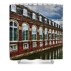 Shower Curtain featuring the digital art Castle Knife Painting by PixBreak Art