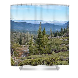 Castle Lake Trail Shower Curtain