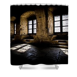 Shower Curtain featuring the photograph Castle Light by Jason Smith