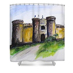 Castle Nuovo, Napoli Shower Curtain by Clyde J Kell