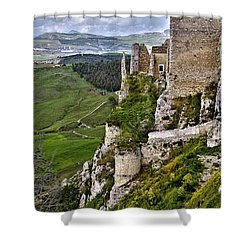 Castle Of Pietraperzia Shower Curtain