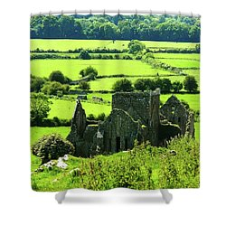 Castle Ruins Countryside Shower Curtain
