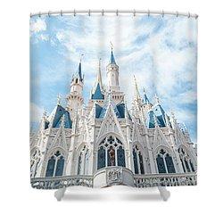 Castle Sky Shower Curtain by Pamela Williams