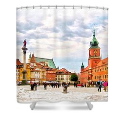 Castle Square, Warsaw Shower Curtain