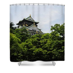 Castle Through The Trees Shower Curtain