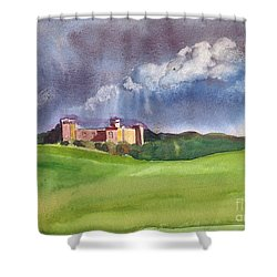 Castle Under Clouds Shower Curtain