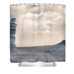 Shower Curtain featuring the photograph Castles Of Wonder by Thomas Bomstad