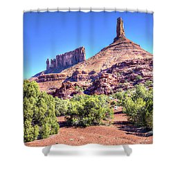 Castleton Tower Shower Curtain by Alan Toepfer