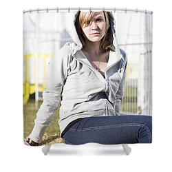 Casual Country Girl Shower Curtain by Jorgo Photography - Wall Art Gallery