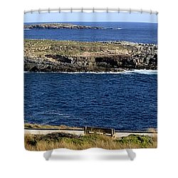 Shower Curtain featuring the photograph Casuarina Islets by Stephen Mitchell