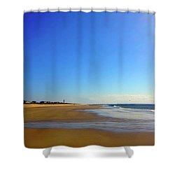 Caswell Beach Morning Shower Curtain