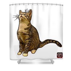 Cat Art - 3771 Wb Shower Curtain by James Ahn