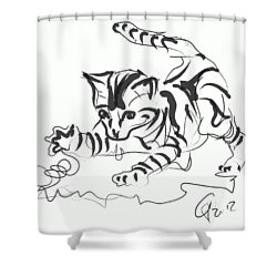Cat- Cute Kitty  Shower Curtain