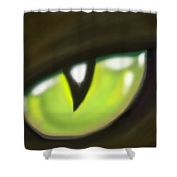 Cat Eye Shower Curtain by Kevin Middleton