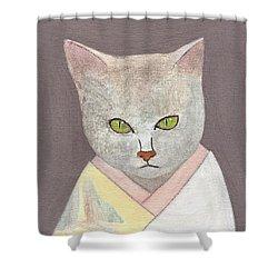 Cat In Kimono Shower Curtain