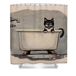 Cat In The Bathtub Shower Curtain