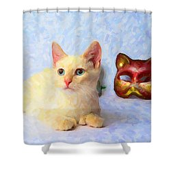 Cat Mask Shower Curtain