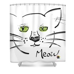 Cat Meow Shower Curtain