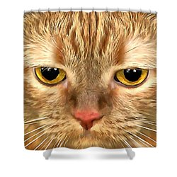 Cat Musya Shower Curtain