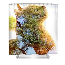 Cat Or Tree Shower Curtain