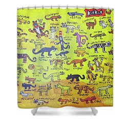 Cat Styles Shower Curtain