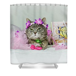 Cat Tea Party Shower Curtain