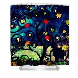 Cat Watch  Shower Curtain by Kim Prowse