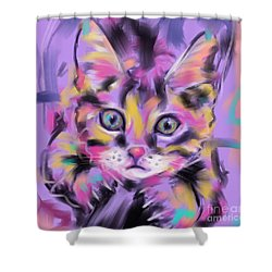 Cat Wild Thing Shower Curtain