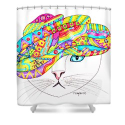 Cat With A Fancy Turban Shower Curtain