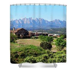 Catalan Landscape In Spring Shower Curtain