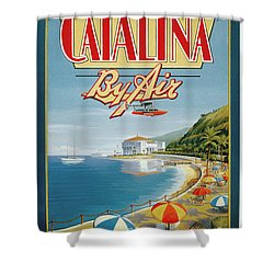 Catalina By Air Shower Curtain by Nostalgic Prints