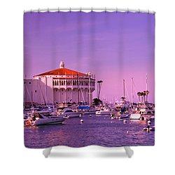 Catalina Casino Shower Curtain by Marie Hicks