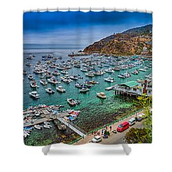 Catalina Island  Avalon Harbor Shower Curtain