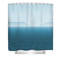 Catalina Island Large Panoramic Color Fine Art Print On Metal Shower Curtain by Ben and Raisa Gertsberg
